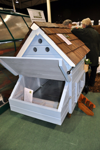 Small painted hen house
